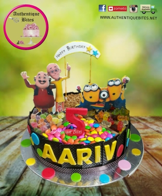 Motu Patlu Minion Designer Cake Order Wedding Cakes 3d 4d