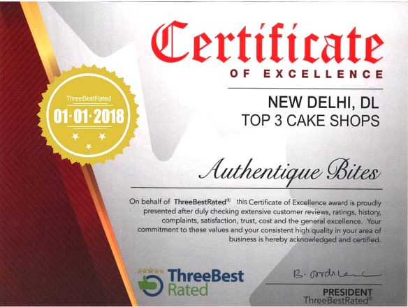 3 BEST RATED CERTIFICATE
